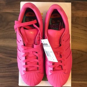 best sneakers 18820 00ef4 Pharrell Williams Pink Superstar Equality Sneaker NWT